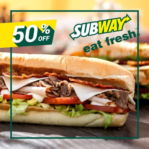 50% Off At Subway